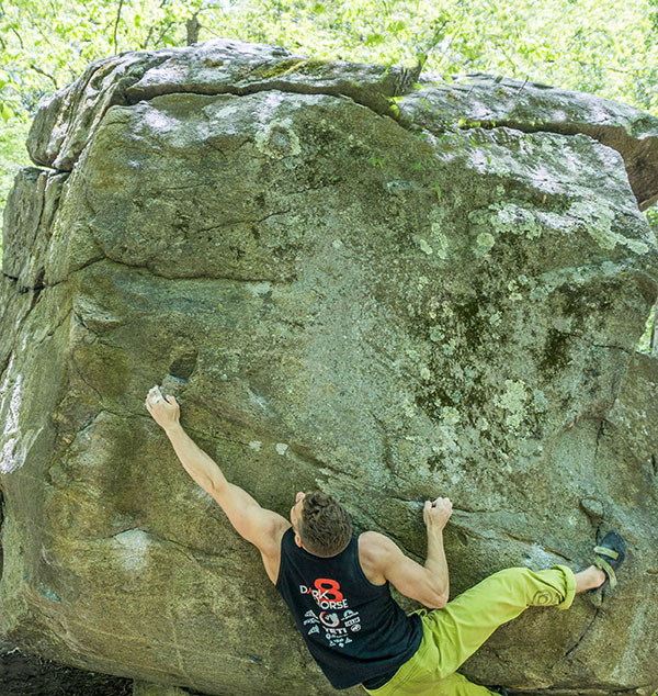 aj pulaski climb boulder