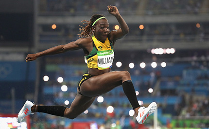 Kimberly Williams Triple Jumps for Jamaica at Rio Olympics