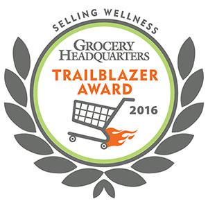 Grocery Headquarters Trailblazer Award, 2016, for Selling Wellness