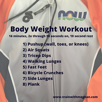 Body Weight Workout Inline Chart