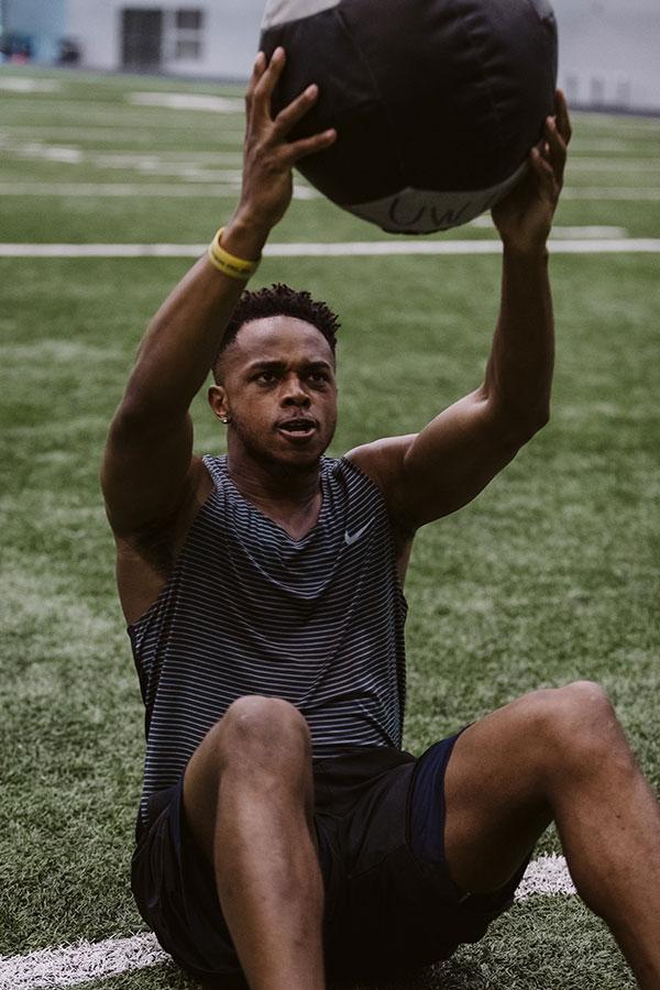 diandre campbell ambassador lifting ball