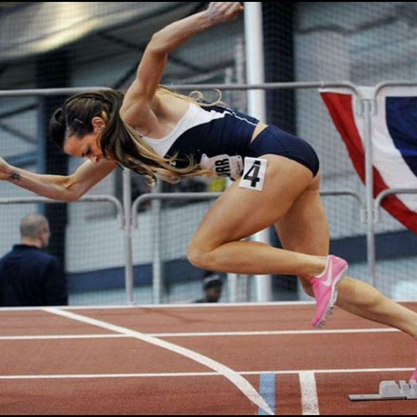fawn dorr sprinting out of starting blocks