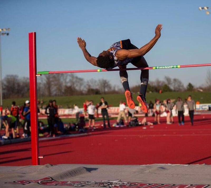 Herbert Gary high jumps