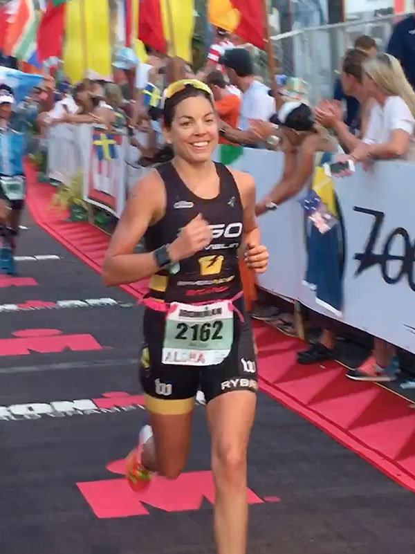 Jacqui Giuliano kona finish