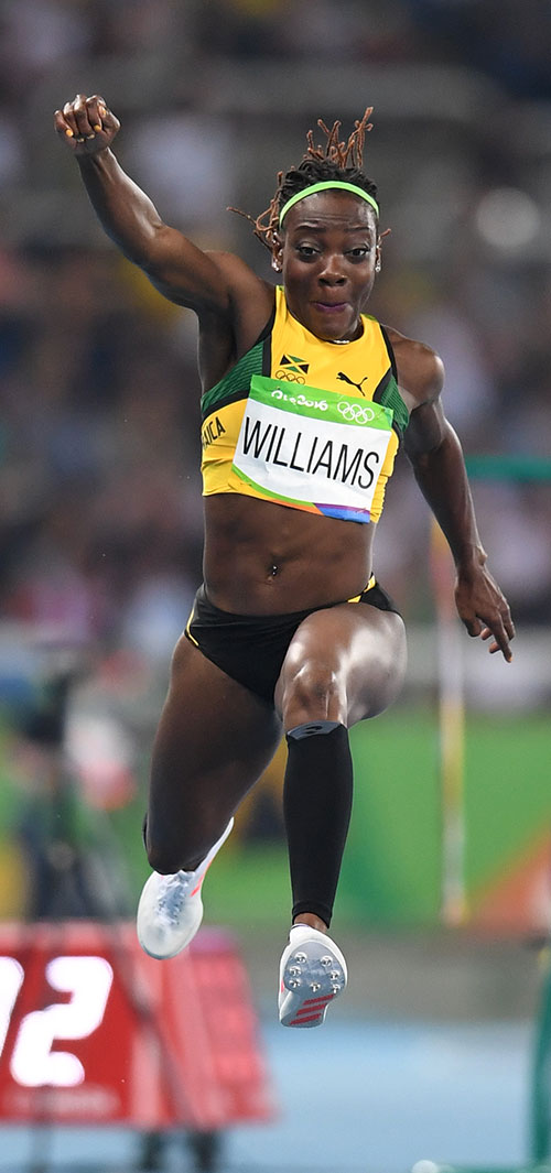 kimmi williams jumps front view