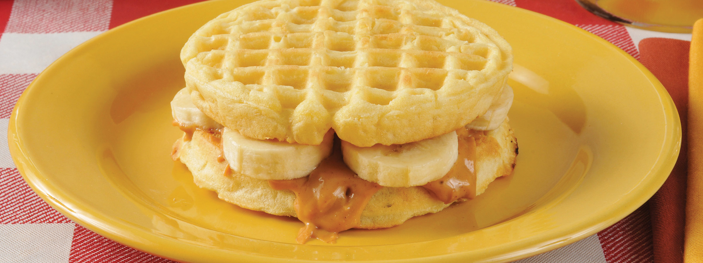 banana and almond waffles image
