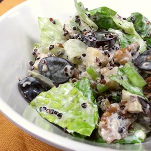 Black Quinoa Waldorf Salad