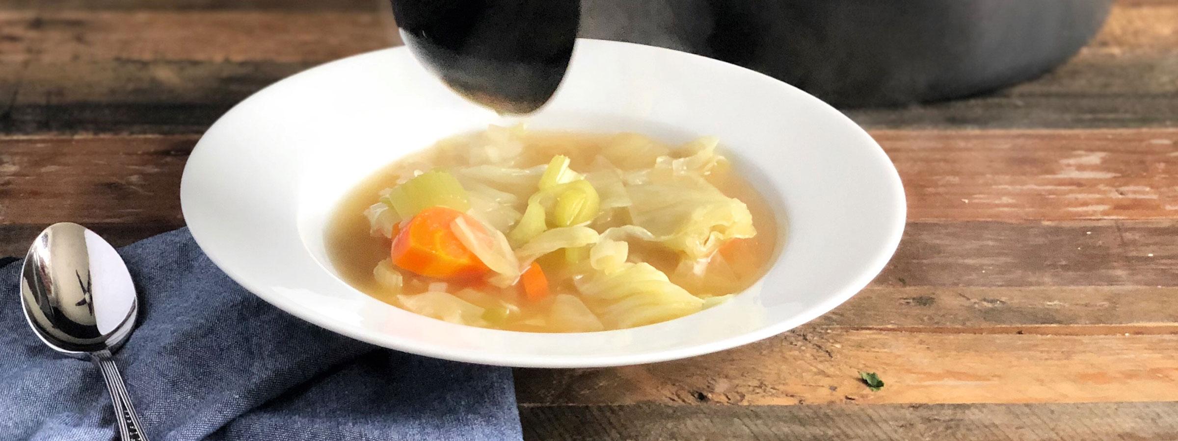 bone broth cabbage vegetable soup hero