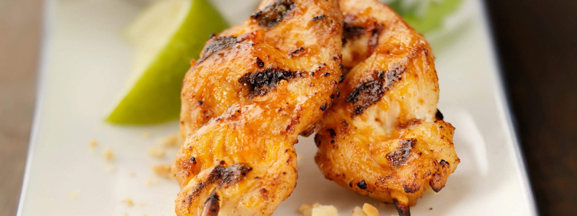 chicken mango satay image