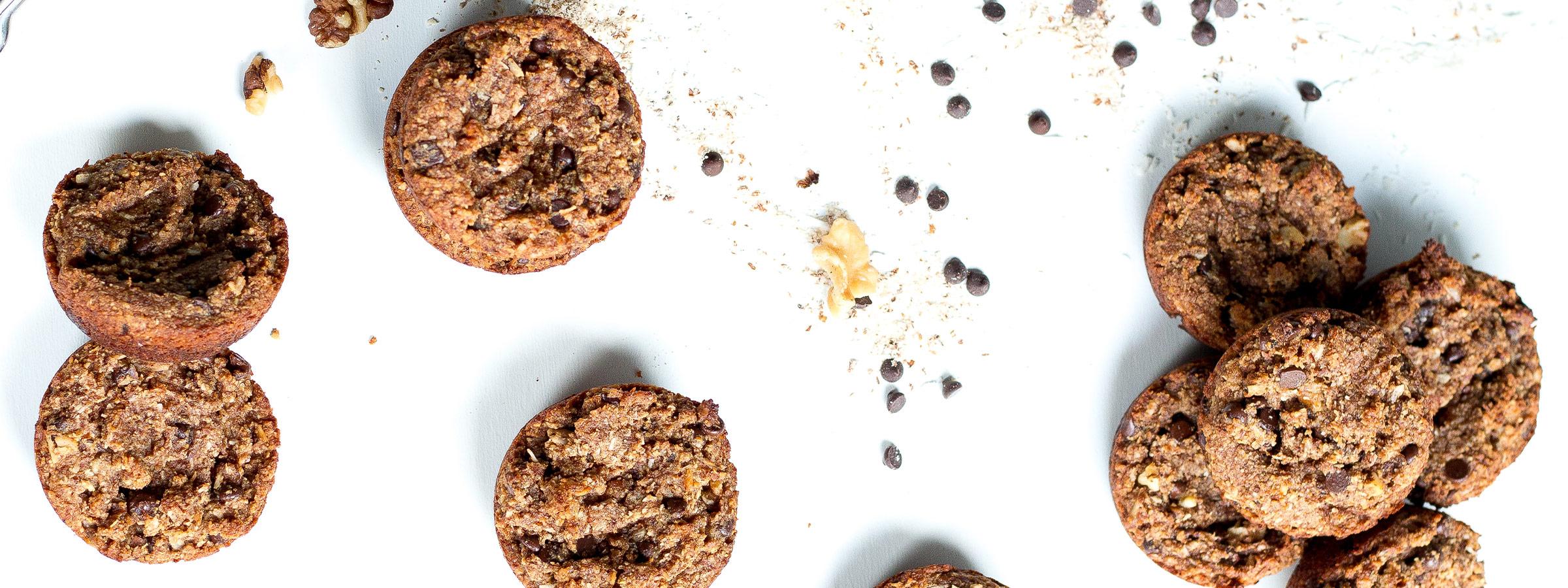 chocolate chip coconut muffing hero