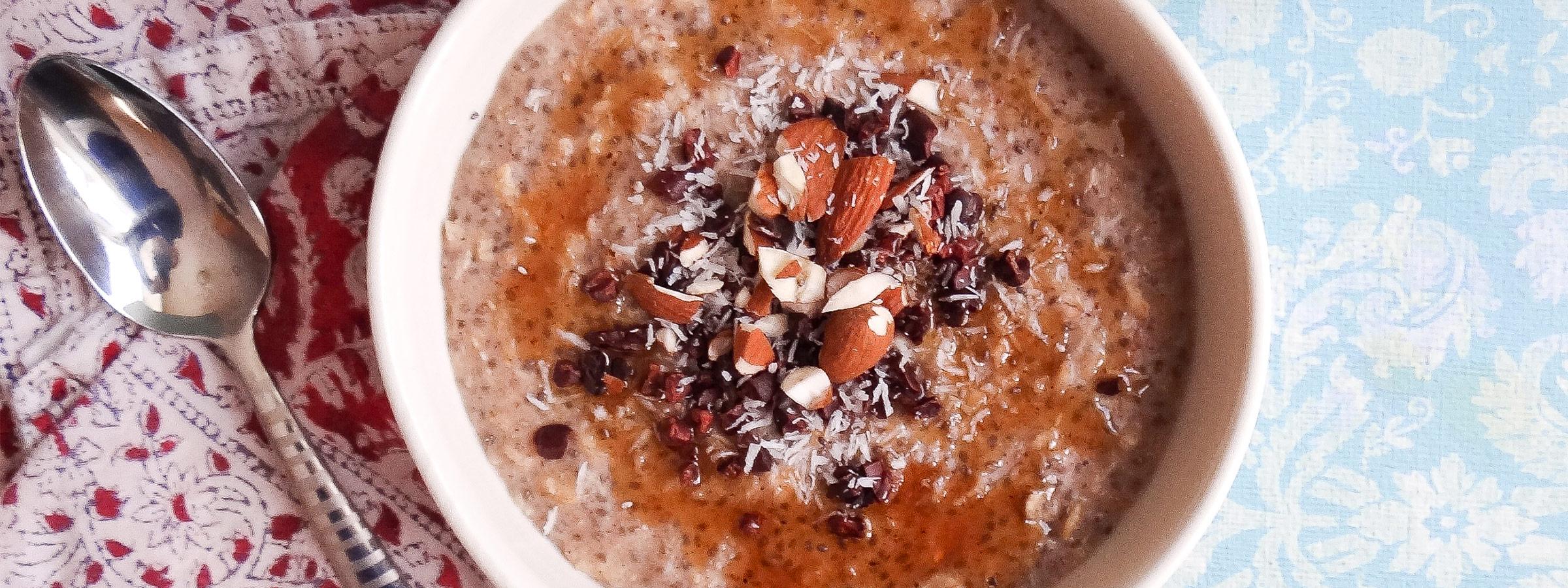 coconut cacao nib oatmeal hero