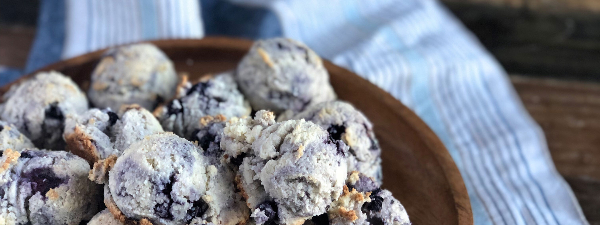 keto vegan blueberry muffin hero