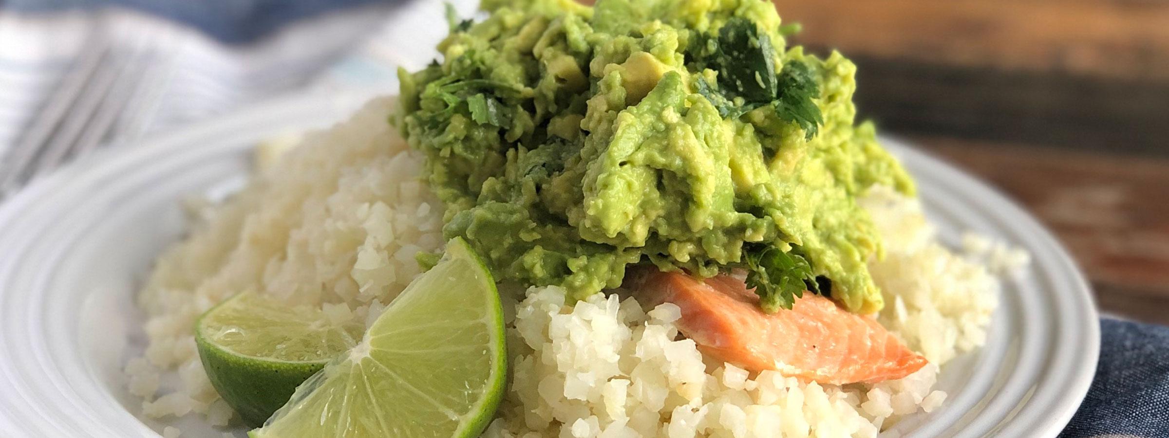 salmon avocado rice bowl hero