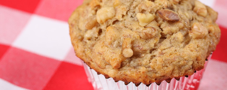 Sugarless Sugar™ Gluten Free Banana Walnut Muffins | NOW Foods