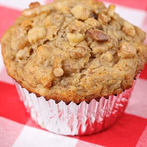 Sugarless Sugar™ Gluten Free Banana Walnut Muffins