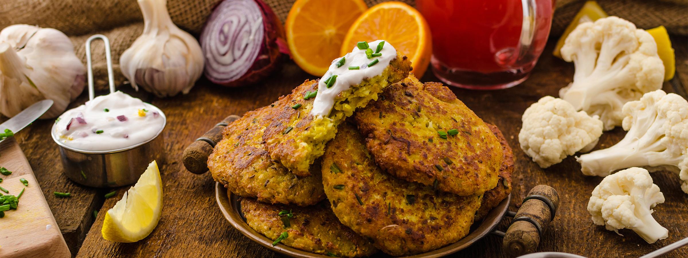 tamari cauliflower fritter featured