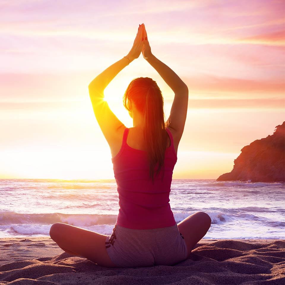 Unselfish Self Care thumbnail image of woman meditating