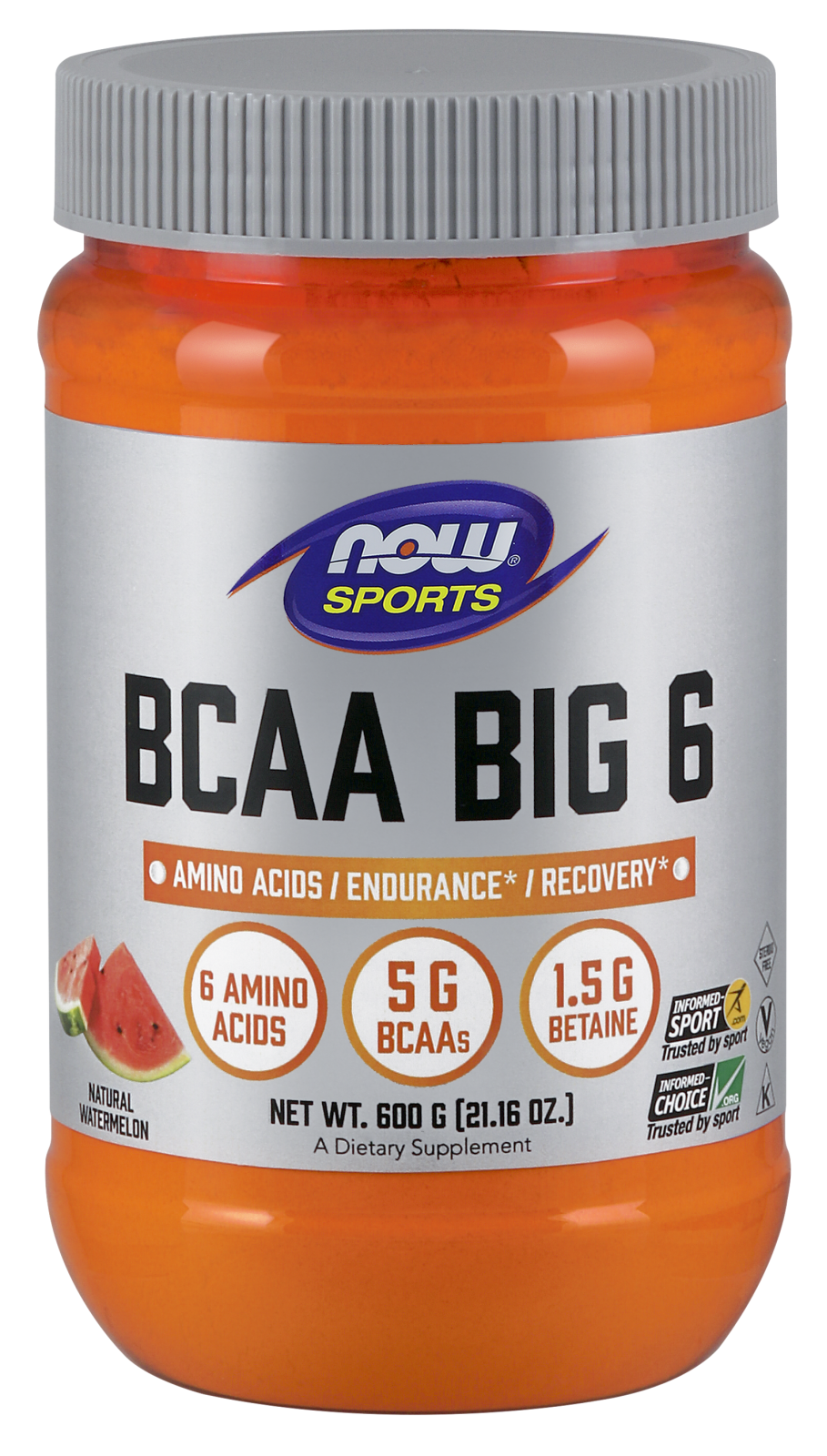 BCAA Big 6, Watermelon Flavor - 600 g