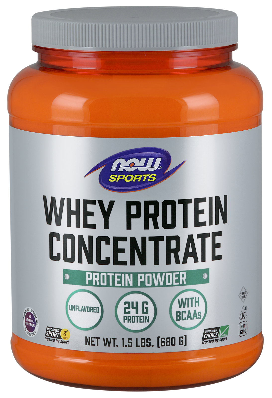 Whey Protein Concentrate Unflavored - 1.5 lbs.
