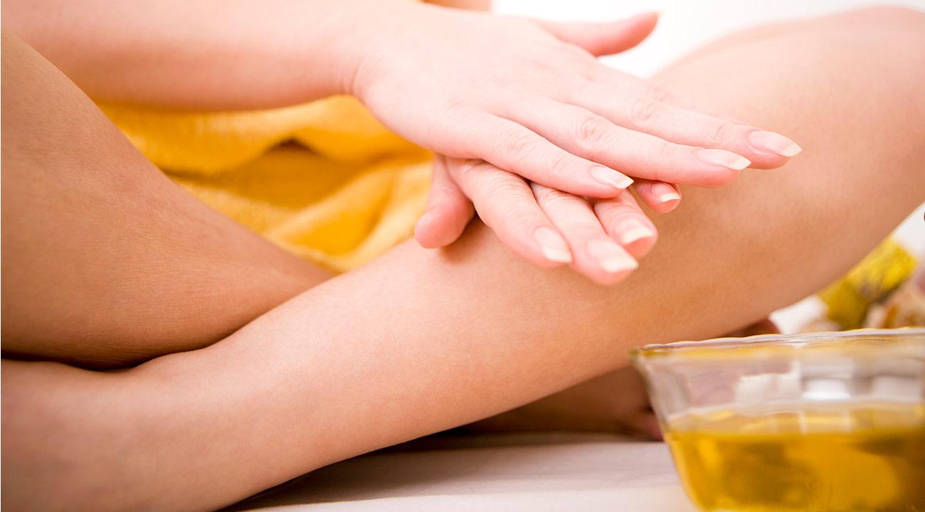 Moisturize dry skin.