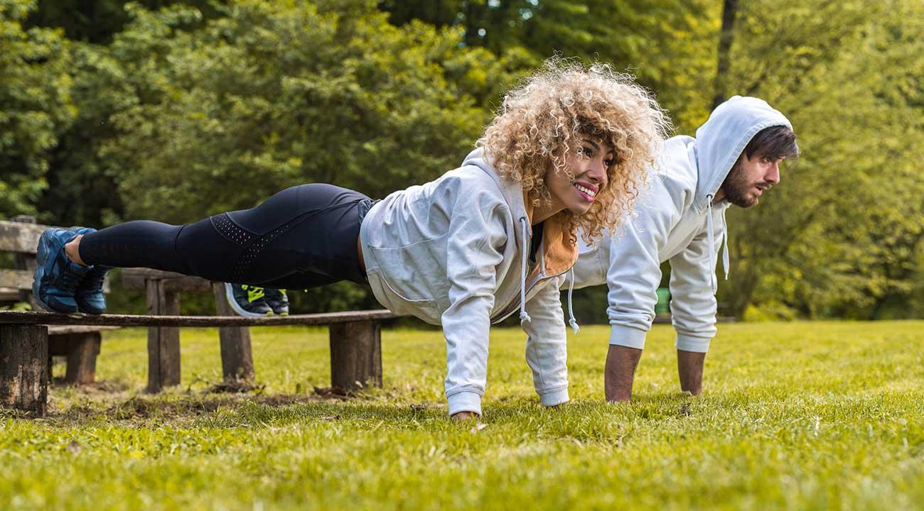 park bench workout slide