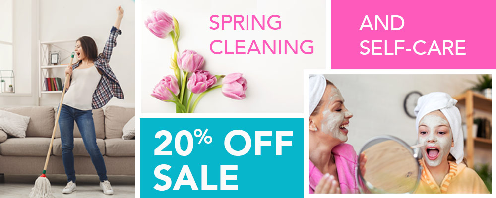 20% Off Sale Spring Cleaning and Self-Care items